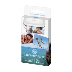 HP ZINK (ZINC) Sticky-Backet Photo Paper fotopapier 5x7.6cm lesklý 20listov pre Sprocket Photo