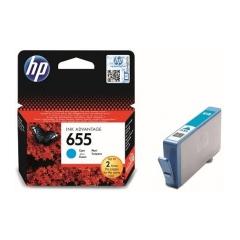 Originál náplň HP 655 (CZ110AE) azúrová 600strán/14ml