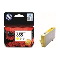 Originál náplň HP 655 (CZ112AE) žltá 600strán/14ml